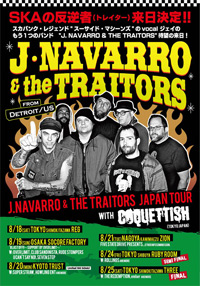 J.NAVARRO & THE TRAITORS JAPAN TOUR 2018 with COQUETTISH