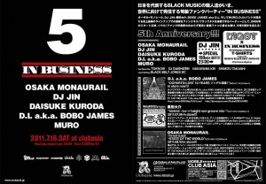 IN BUSINESS 5th Anniversary