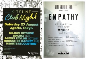 KITSUNE CLUB NIGHT & Empathy (supported by eskche)