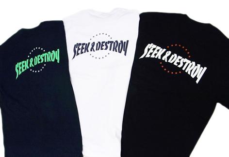 SEEK&DESTROY 15th ANNIVERSARY T-shirts