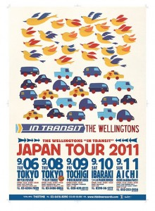 "THE WELLINGTONS ""In Transit"" Japan Tour 2011"