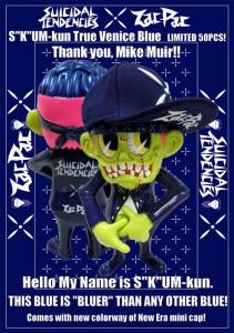 ZacPac x Suicidal Tendencies(ザックパック×スイサイダル・テンデンシーズ) SKUM-kun(スカム君) Venice Blue(ベニスブルー)