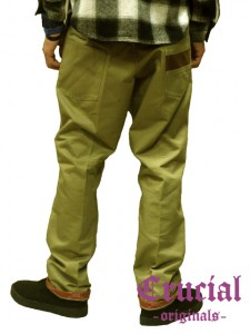 [CRUCIAL ORIGINALS]-WORKER PANTS-KHAKI-