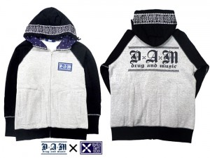 DxAxM x VENiCE CLASS SiCKS-RAGRAN ZIP UP PARKA
