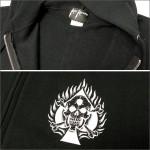 K★KALI KHRONIC ZIPパーカー Raw and death 黒 (カリクロニック)