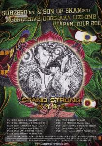 SUBZERO,SON OF SKAM,AGGRESSVE DOGS aka UZI-ONE JAPAN TOUR 2011