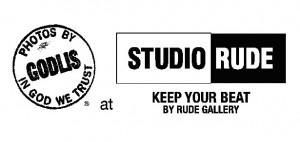 「STUDIO RUDE」×「GODLIS」コラボレーションT-shirts
