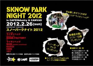 『SKNOW PARK NIGHT 2012』