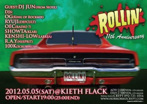 ROLLIN' -11th Anniversary-