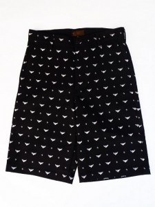 FLYING WHEEL PATTERNED ALL OVER SHORTS