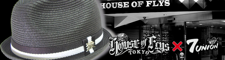 HOUSE OF FLYS × 7UNION ペーパーストローHAT