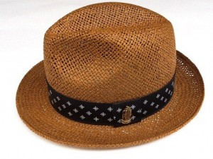 BANDANA LINE STRAW HAT / BROWN