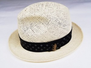 BANDANA LINE STRAW HAT / NATURAL
