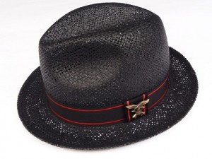 SSS EAGLE/RED LINE STRAW HAT / BLACK