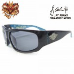 SKATERFLY(JAYADAMSシグネーチャーモデル) シャイニー.ブラック - ブルー:ホワイト ダイアモンド / スモーク(偏光レンズ)