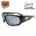 SKATERFLY(JAYADAMSシグネーチャーモデル) シャイニー.ブラック - ブラック:グレー ダイアモンド / スモーク(偏光レンズ)