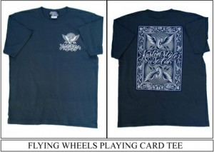 FLYING WHEELS PLAYING CARD TEE