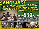 Sanctuary -The Cavemans New Album 『DIAMOND』心斎橋CLUB DROP 9th ANNIVERSARY- supported by「sevenneves」