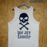 [DxAxM]-We Are Family TANK TOP-WHiTE and BLACK