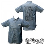 KALI KHRONIC - Raw and death CHAMBRAY Shirts / Blue