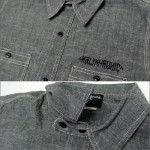 KALI KHRONIC - Raw and death CHAMBRAY Shirts / Black