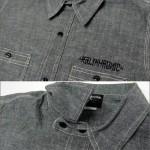 KALI KHRONIC - Raw and death CHAMBRAY Shirts / Black