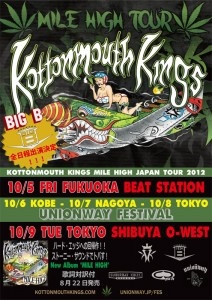 "Kottonmouth Kings ""MILE HIGH JAPAN TOUR 2012"" with BIG B"
