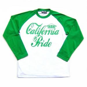 BLACK FLYS - CA PRIDE ラグラン ロングスリーブ Tシャツ