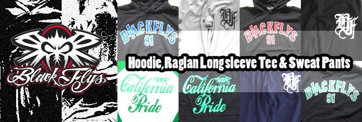 BLACK FLYS - Hoodie,Raglan Long sleeve Tee & Sweat Pants