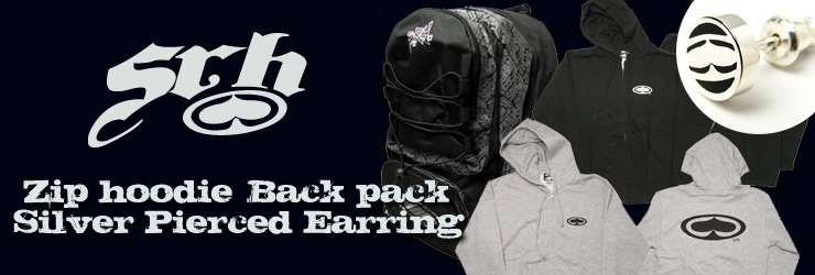 SRH - Zip hoodie,Back pack & Silver Pierced Earring