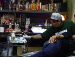 OPIE ORTIZ guest tattoo work at SLAP STICK TATTOO