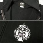 KALI KHRONIC ZIPパーカー Raw and death / ブラック
