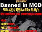 SEEK & DESTROY presents – Banned in MCD 2013.04.04(木) at 町田Live&Bar Nutty's