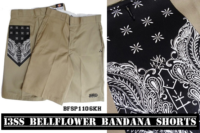 13SS BELLFLOWER BANDANA SHORTS
