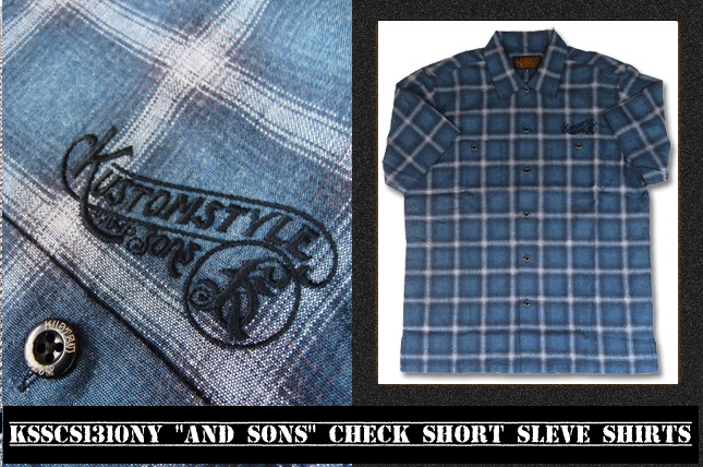 """AND SONS"" CHECK SHORT SLEVE SHIRTS"