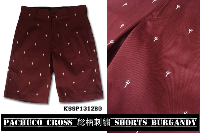 PACHUCO CROSS 総柄刺繍 SHORTS
