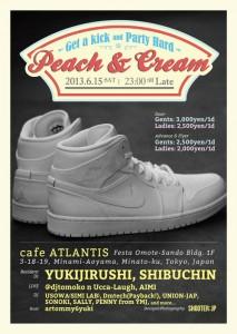 Peach & Cream 2013.06.15(sat) at 表参道cafe ATLANTIS