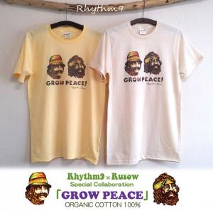 Rhythm9 × RUSOW コラボレーションアイテム [GROW PEACE]
