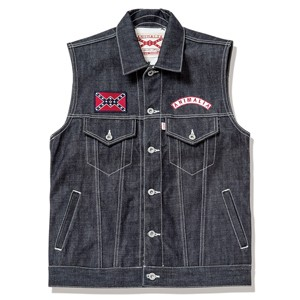 AN15S-JK01 JEAN VEST  BRONCO No001