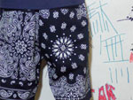 CRUCIAL ORIGINALS – BANDANA BTN Shorts-D.NAVY、Leopard Shorts-BLACK-