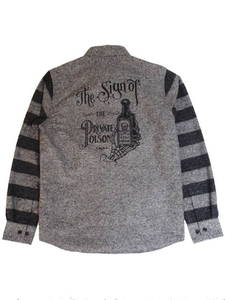 "KSLS1219""POISON BOTTLE""BORDER SLEVE SHIRTS"