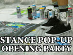"STANCE POP-UP OPENING PARTY  ""MARK OBLOW ""LIVE PAINTING"