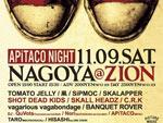 APiTACO NIGHT – SKALL HEADZ/COME ON & 凩/ゲットアチャンス レコ発 – 2013.11.09 (SAT) at上前津ZION