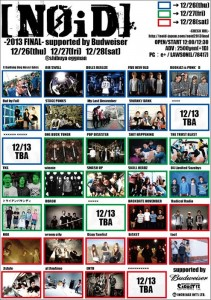 [NOID] -2013 FINAL- supported by Budweiser 2013/12/26(thu)  27(fri) 28(sat) at shibuya eggman