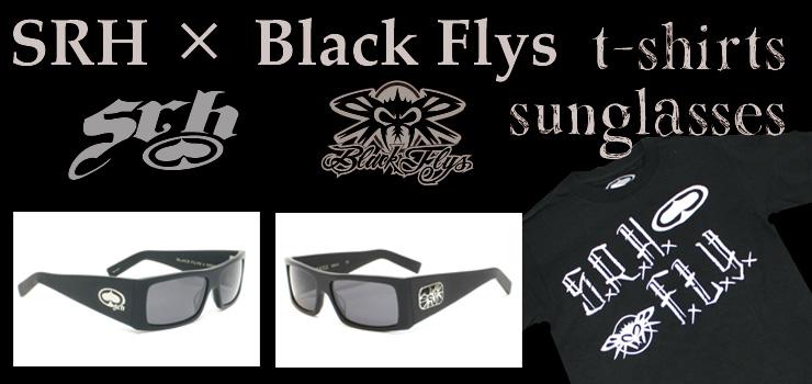 SRH×Black Flys - コラボレーションTシャツ & サングラス