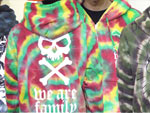 [DxAxM] タイダイ ZIP HOODIE (HEART SKULL / Satanism / We Are Family / DEMON )
