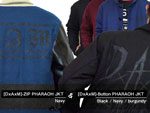 DxAxM – ZIP PHARAOH JKT (NAVY)  & Button PHARAOH JKT (Black/Navy/Burgundy)