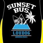 SUNSET BUS x LOUDOGコラボプルパーカー
