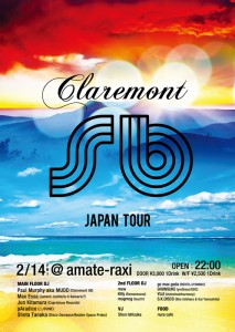 Claremont 56 Japan Tour - 2014/2/14(fri) at 渋谷amate-raxi