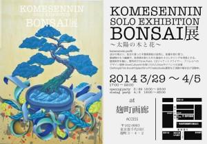 KOMESENNIN Solo Exhibition BONSAI展 ~太陽の木と花~ 2014.3/29~4/5 at 麹町画廊